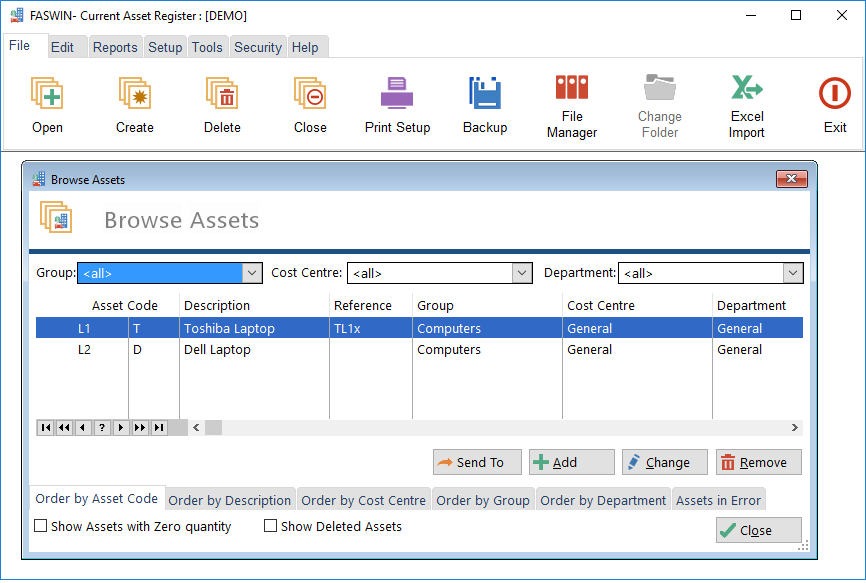 asset management software free download full version